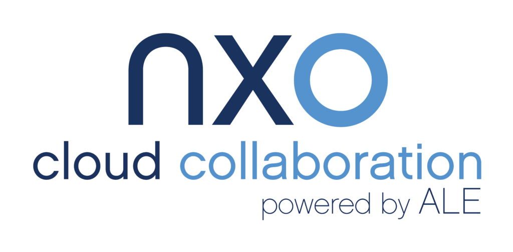 NXO cloud collaboration powered by ALE logo