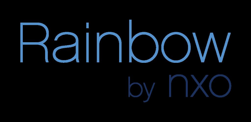 Rainbow by NXO logo bleu