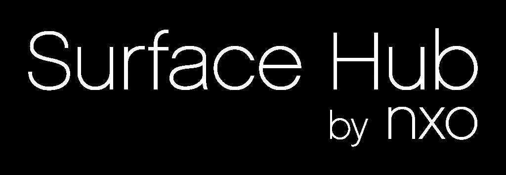 Logo surface hub by NXO blanc