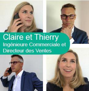 Claire et Thierry, commerciaux NXO