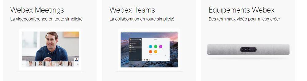 La gamme Webex : Meetings, Teams, Equipements - NXO bannière