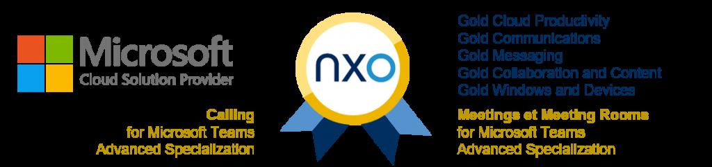 NXO est Gold Partner Microsoft